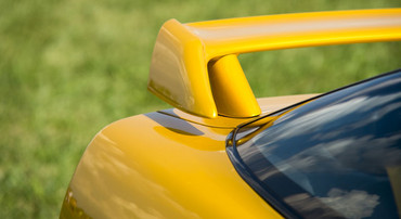 This rear spoiler also has a special design – and can therefore be protected.